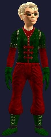 Snappy Red and Green with gloves (Equipped)