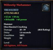 Willowtip Warhammer