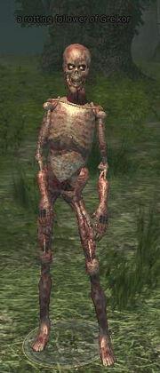 A rotting follower of Grelkor