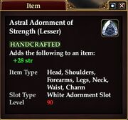 Astral Adornment of Strength (Lesser)