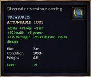 Rivervale riverstone earring