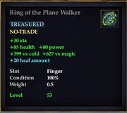 Ring of the Plane Walker