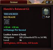 Hanshi's Balanced Gi