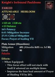 Knight's Irebound Pauldrons