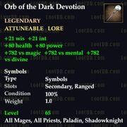 Orb of Dark Devotion