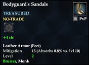 Bodyguard's Sandals