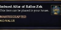 Imbued Altar of Rallos Zek