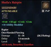 Sheila's Hairpin
