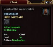 Cloak of the Woodworker