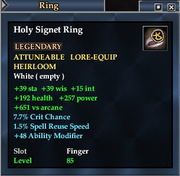 Holy Signet Ring