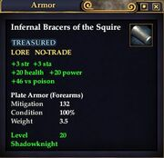 Infernal Bracers of the Squire
