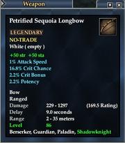 Petrified Sequoia Longbow