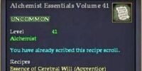 Alchemist Essentials Volume 41