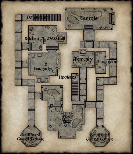 Map of Crushbone Keep Ground Floor