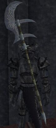 Shiny Brass Halberd (equipped)