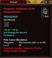 Dragoon's Pauldrons of the Weaponmaster