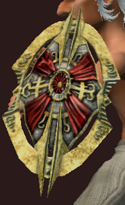 Round Shield of Virulent Deflection (Equipped)