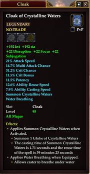 Cloak of Crystalline Waters (Mage)