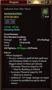 Imbued Iron War Mace