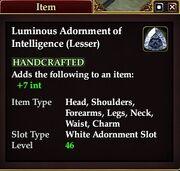 Luminous Adornment of Intelligence (Lesser)