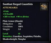 Sootfoot Forged Gauntlets