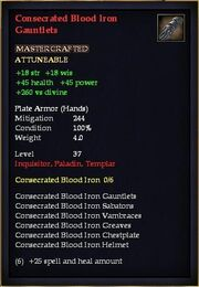 Consecrated Blood Iron Gauntlets