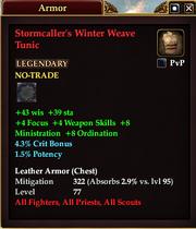 Stormcaller's Winter Weave Tunic