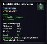 Legplates of the Valewatcher