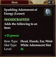 Sparkling Adornment of Energy (Lesser)