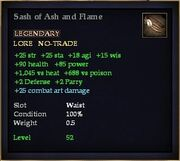 Sash of Ash and Flame
