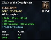 Cloak of the Dreadpriest