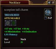 Scorpion tail charm