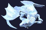 Sleeping baby ice dragon plushie (Visible)