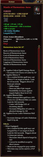 Mantle of Harmonious Auras