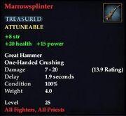 Marrowsplinter