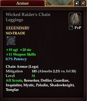 Wicked Raider's Chain Leggings