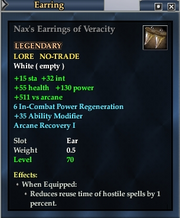 Nax's Earrings of Veracity