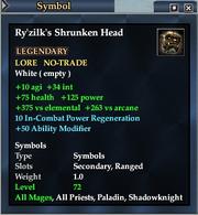 Ry'zilk's Shrunken Head