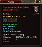 Sacrosanct Shoulder Pads of the Forest Scion