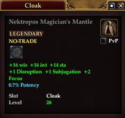 Nektropos Magician's Mantle