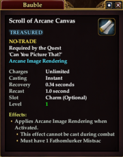 Scroll of Arcane Canvas