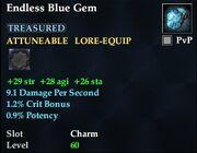 Endless Blue Gem