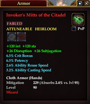 Invoker's Mitts of the Citadel