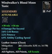Windwalker's Blood Moon Tunic