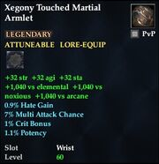 Xegony Touched Martial Armlet