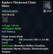 Raider's Thickened Chain Shoes