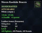 Woven Rawhide Bracers