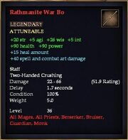Rathmanite War Bo