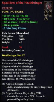 Spaulders of the Wrathbringer
