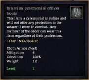 Tunarian ceremonial officer boots